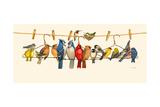 Bird Menagerie II Art by Wendy Russell