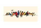 Bird Menagerie III Arte di Wendy Russell