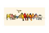 Bird Menagerie I Kunstdruck von Wendy Russell