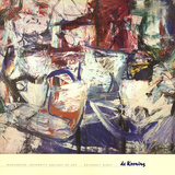 Saturday Night Plakat af Willem de Kooning