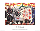 Eriegnis in NY 2 (With Text) Plakater af A.R. Penck