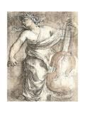 The Muse Erato Poster by Eustache Le Sueur