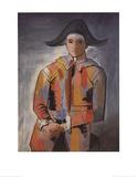 Arlequin les Mainscroisees (No Text) Affiche par Pablo Picasso