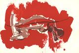 Irregular Forms on red Konst av Paul Rebeyrolle