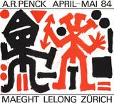 Maeght Lelong Zurich Poster af A.R. Penck
