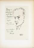 Homage to Antonio Machado Posters por Pablo Picasso