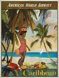 Vintage Travel Caribbean Posters av  The Portmanteau Collection