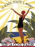 Sur la Cote D'Azur ポスター : ロジェ・ブロデール