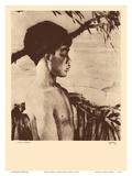 Kaipo, Hawaii - Native Hawaiian Boy - from Etchings and Drawings of Hawaiians Stampe di John Melville Kelly
