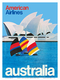 Australia - Sydney Opera House - American Airlines Prints by  Pacifica Island Art