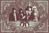 Aerosmith - Leather Plakater