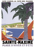 Sainte Maxime Posters por Roger Broders