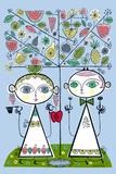 Forbidden Fruit Posters tekijänä Melinda Beck