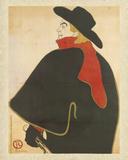 Aristide Bruant dans son cabaret Láminas por Henri de Toulouse-Lautrec