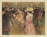 Dressage des nouvelles, par Valentin le Desosse (Moulin Rouge) Lámina por Henri de Toulouse-Lautrec