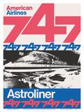 Boeing 747 Astroliner - American Airlines Julisteet tekijänä Peter Gee