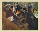 At The Moulin Rouge Pósters por Henri de Toulouse-Lautrec