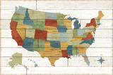 Barnboard Map Posters by Sue Schlabach