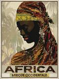 Vintage Travel Africa Poster von  The Portmanteau Collection