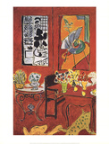 Large Red Interior Prints by Henri Matisse