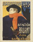 Les Ambassadeurs: Aristide Bruant Póster por Henri de Toulouse-Lautrec