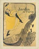 Jane Avril au Jardin de Paris Láminas por Henri de Toulouse-Lautrec