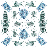 Kaleidoscope Beetles Giclee Print by Kristine Hegre