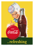 Drink Coca Cola - Refreshing Poster di  Pacifica Island Art