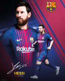 Barcelona - Messi Collage 17/18 Posters