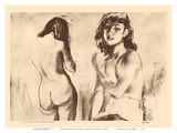 Nude Studies for Etchings - from Etchings and Drawings of Hawaiians Stampe di John Melville Kelly
