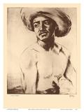 Kimo, Hawaii - Native Hawaiian Man - from Etchings and Drawings of Hawaiians Arte di John Melville Kelly