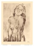 Marion, Hawaii - Topless Native Hawaiian Girl - from Etchings and Drawings of Hawaiians Stampe di John Melville Kelly