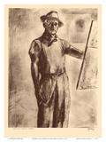 John Kelly Self Portrait - Honolulu Hawaii - from Etchings and Drawings of Hawaiians Stampe di John Melville Kelly