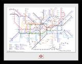 Transport For London - Underground Map Sammlerdruck