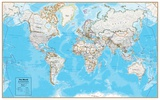 Hemispheres Contemporary Series World Wall Map, paper edition Posters