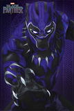 Black Panther - Glow Kunstdruck