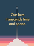 Time And Space Rocket Posters