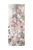 Floral Symphony Blush Gray Crop I Kunstdruck von Silvia Vassileva