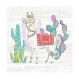 Lovely Llamas V Print by Mary Urban