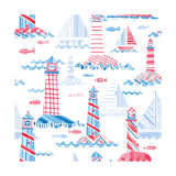 Coastal Americana Pattern VIII Posters by Melissa Averinos