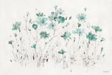Wildflowers I Turquoise Poster von Lisa Audit