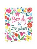 Floral Quote III Poster di Farida Zaman