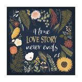 Autumn Romance V Print by Laura Marshall