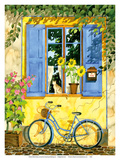 The French Bike - France Poster van Robin Wethe Altman