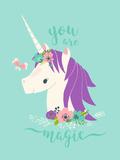 You are Magic Unicorn Giclée-Premiumdruck von Heather Rosas