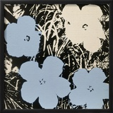 Flowers, 1965 (3 blue, 1 ivory) Posters por Andy Warhol