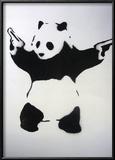 Pandamonium Framed Giclee Print by  Banksy