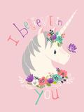 I Believe in You on Pink Giclée-Premiumdruck von Heather Rosas