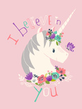 I Believe in You on Pink Prints by Heather Rosas