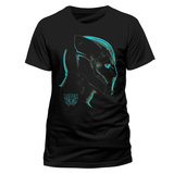 Black Panther - Neon Face T-Shirt